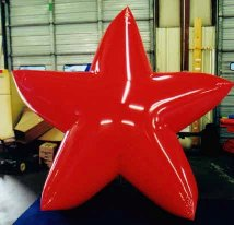 Star shape helium Christmas inflatable